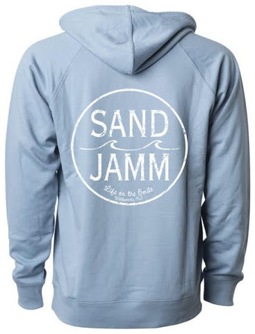 SJ Classic Lightweight Hooded Pullover - Misty Blue