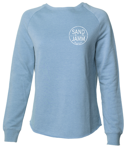 Women's SJ Classic Wave Wash Crew - Misty Blue