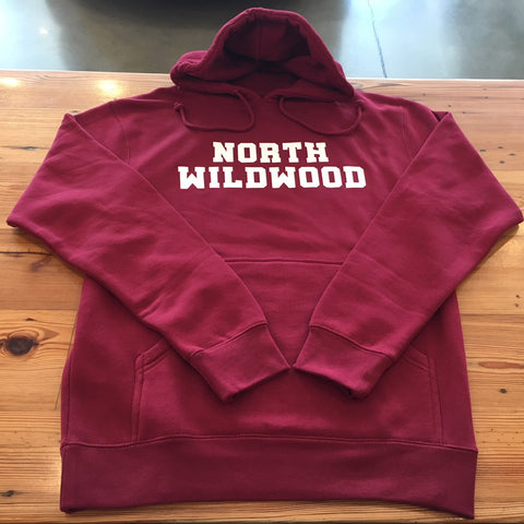 North Wildwood Stacked Heavyweight Hooded Pullover - Cardinal