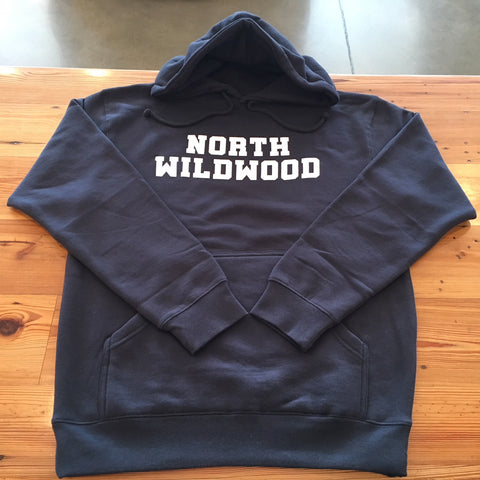 North Wildwood Stacked Heavyweight Hooded Pullover - Navy Blue