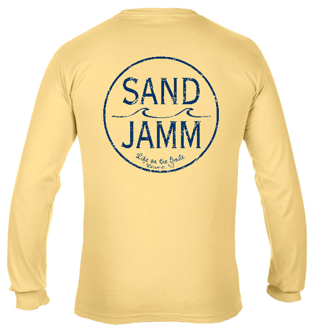 SJ Classic Navy Logo Long Sleeve Shirt - Butter