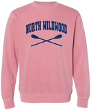 North Wildwood Oars Pigment Dyed Crew - Pink