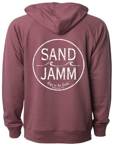 SJ Classic Lightweight Hooded Pullover - Port
