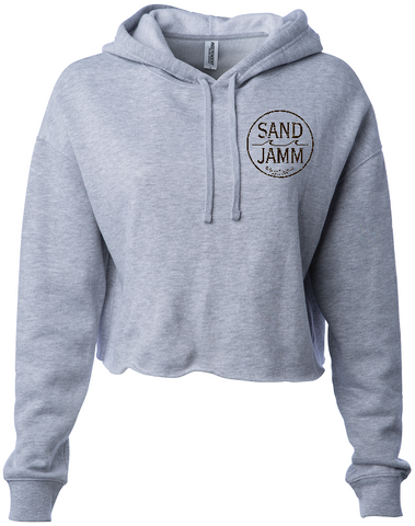 Women's SJ Classic Crop Hooded Pullover - Grey