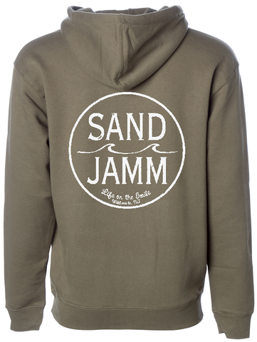 SJ Classic Heavyweight Hooded Pullover - Army