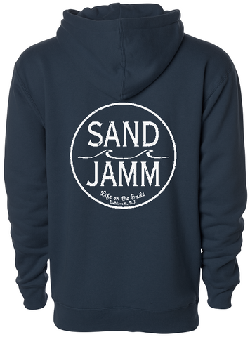 SJ Classic Heavyweight Hooded Pullover - Navy Blue