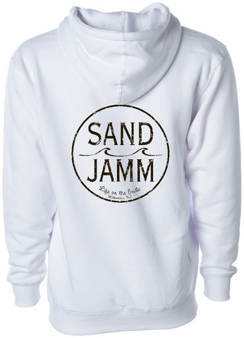 SJ Classic Heavyweight Hooded Pullover - White