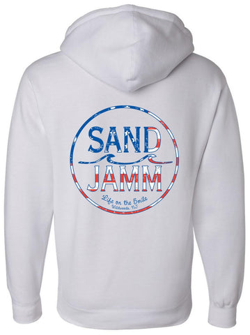 SJ USA Heavyweight Hooded Pullover - White