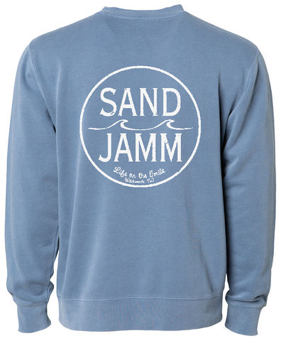 SJ Classic Pigment Dyed Crew - Slate Blue