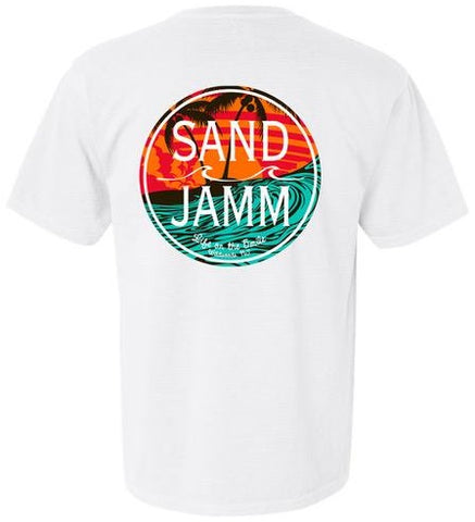 SJ Teal Waves T-Shirt - White