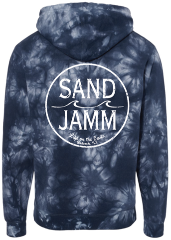 SJ Classic Tie Dye Hooded Pullover - Navy