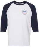 SJ USA 3/4 Sleeve Shirt - White/Navy