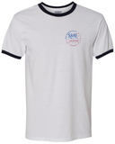 SJ USA Ringer Tee - White/Navy