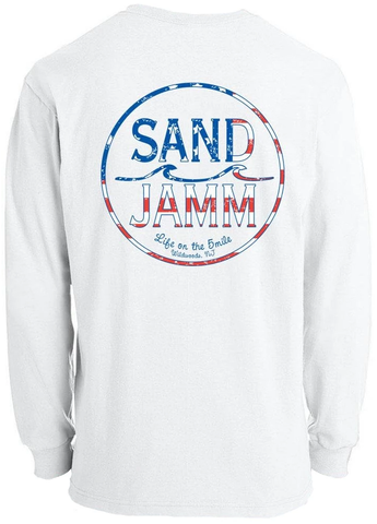 SJ USA Youth Long Sleeve Shirt - White