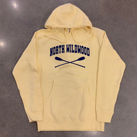 North Wildwood Oars Heavyweight Hooded Pullover - Yellow