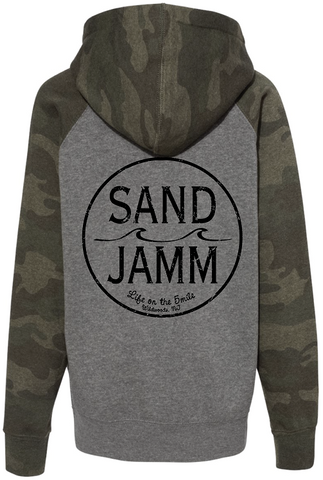 SJ Classic Youth Lightweight Hooded Pullover - Nickel/Camo