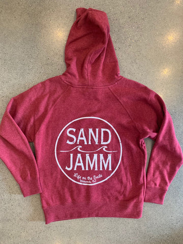 SJ Classic Youth Lightweight Hooded Pullover - Crimson