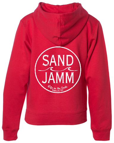 SJ Classic Youth Midweight Hooded Pullover - Red