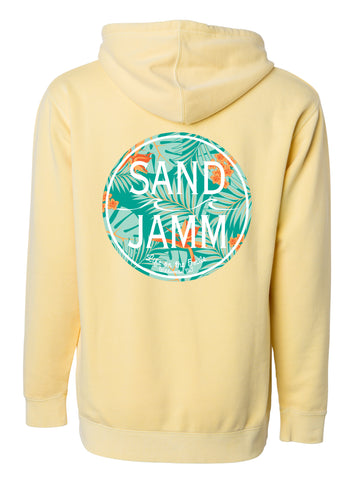 SJ Mint Tropical Hooded Pullover - Yellow