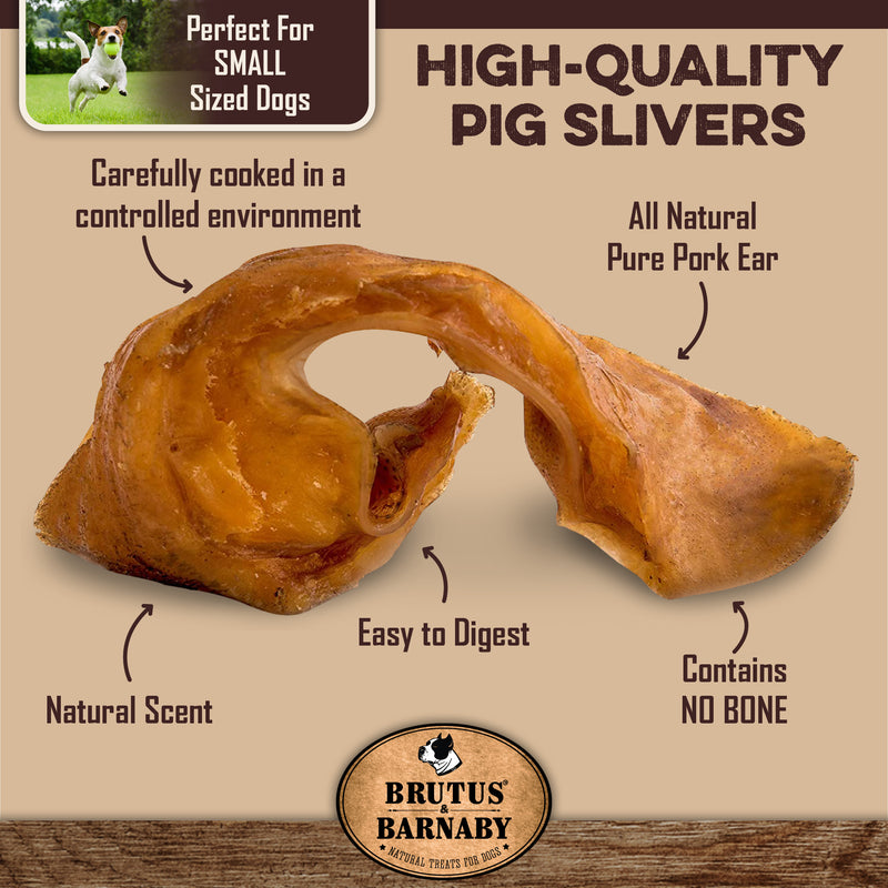 High-quality pig slivers - Perfect for Small sized dogs