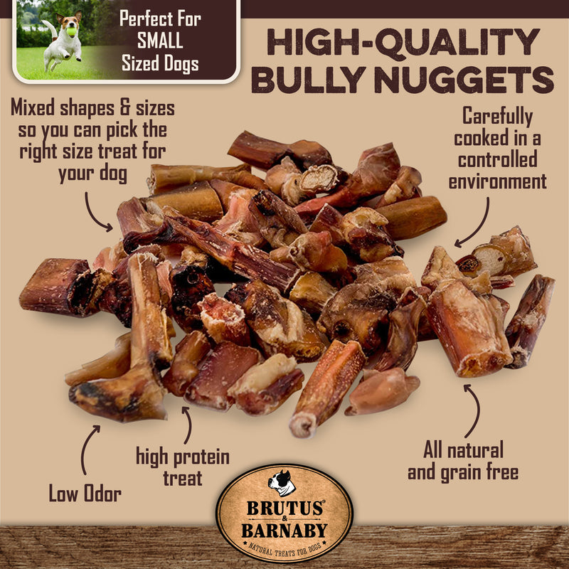 Bully Nuggets - Grass Fed low odor bully stick bites