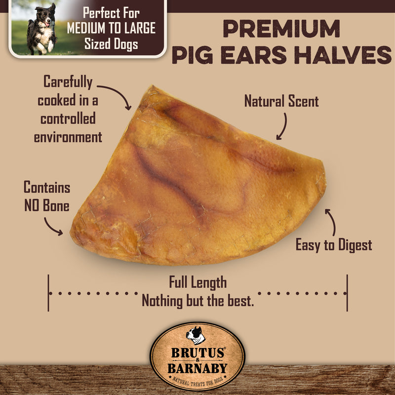 Pig Ear Halves - Great for Smaller Dogs