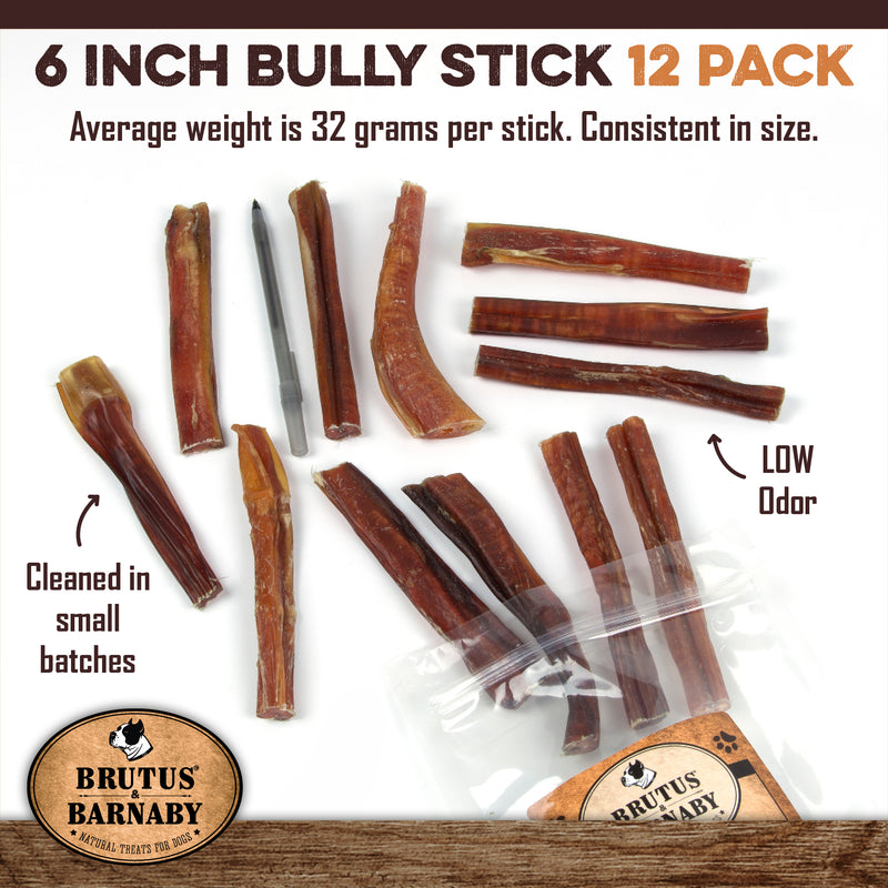6 Inch All Natural Bully Sticks
