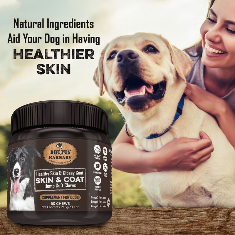 Skin and Coat Soft Chews with Omega 3 fish oil for dogs