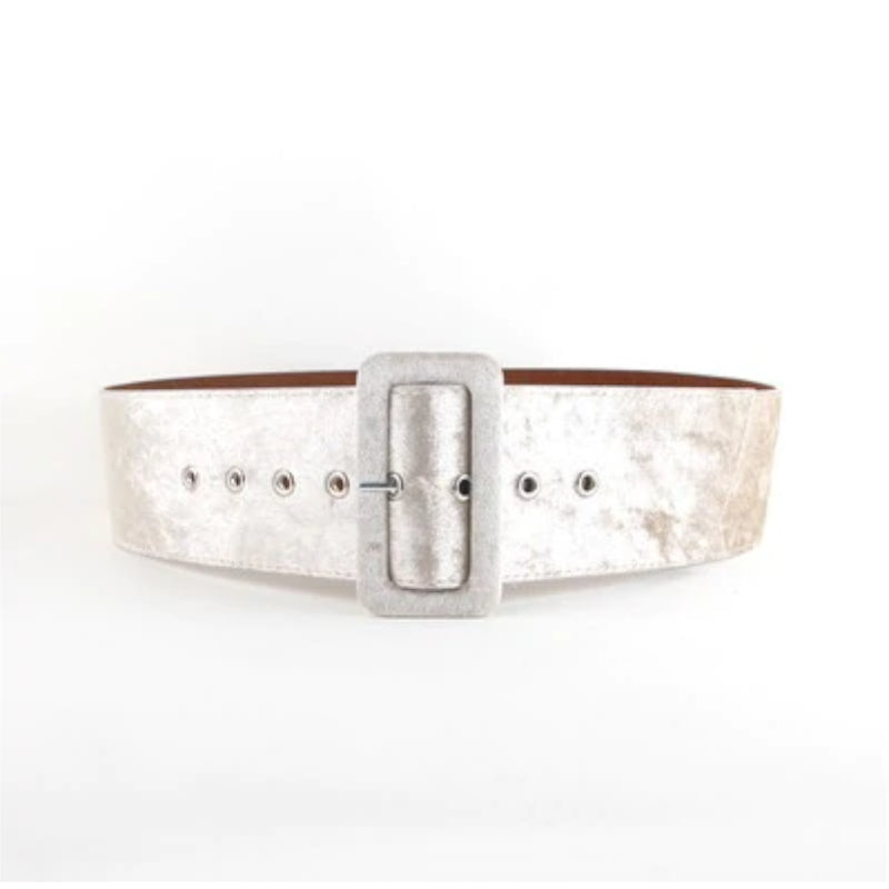 Women's Buckled Velvet Waistband