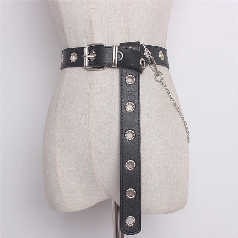 Pin Buckle Leather Waistband