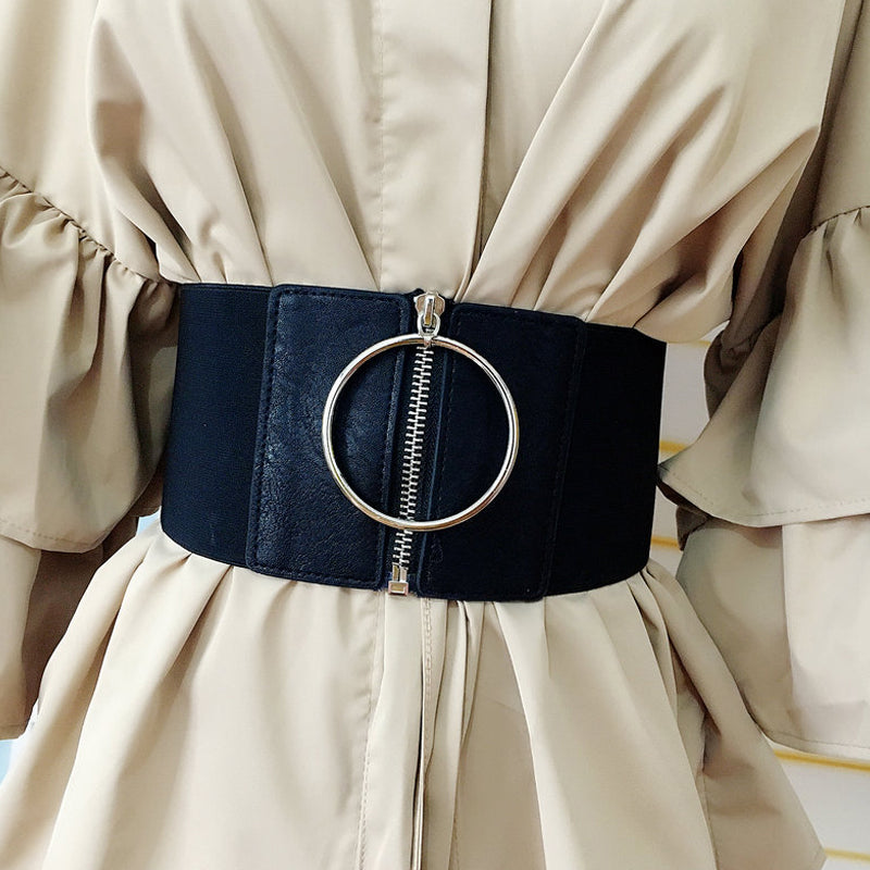 Wide Zipper Waistband