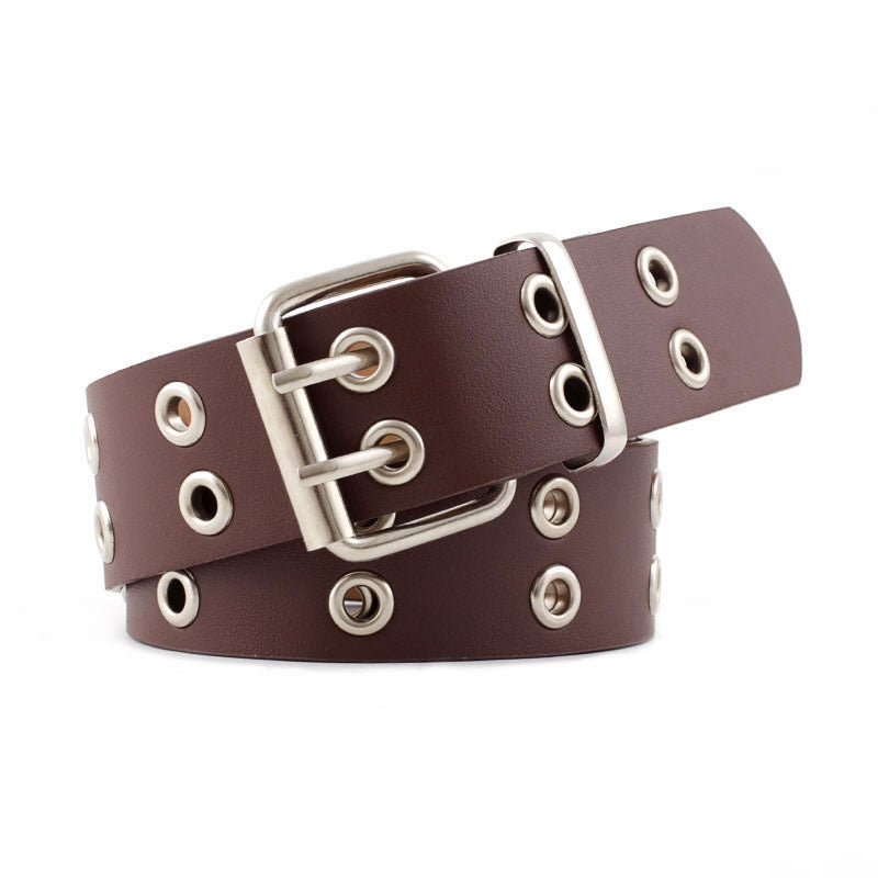 Double Pin Buckle Punk Belt