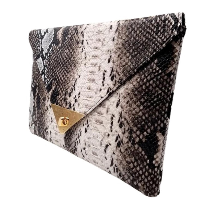 Snake Print Synthetic Leather Purse