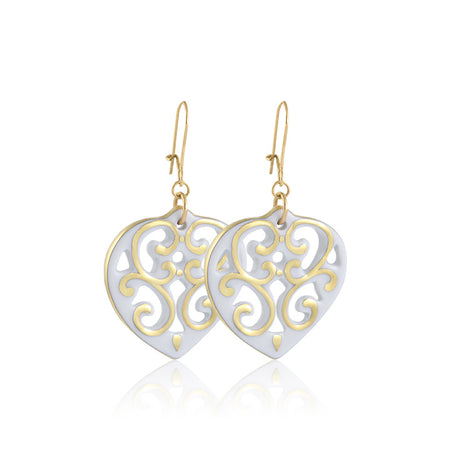 Aero Heart Earrings Gold