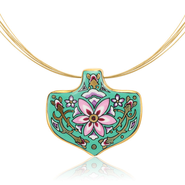 Large Mint Medals Secession Necklace