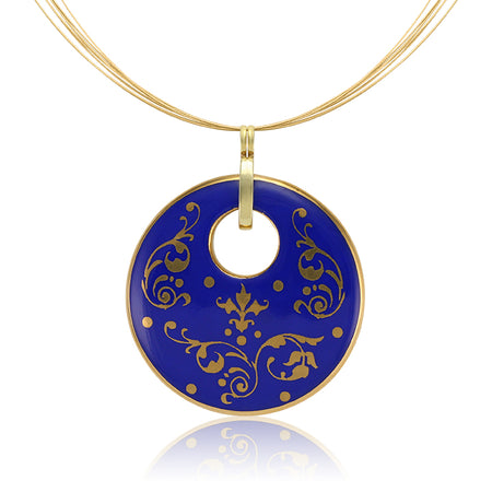 Blue Circle Baroque Necklace