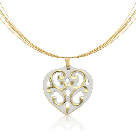 Aero Heart Necklace Gold