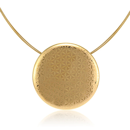 Minimal Golden Circle Necklace Large