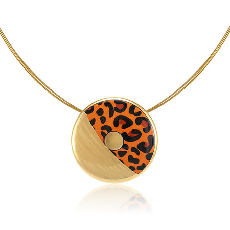 Small Gold Leopard Necklace