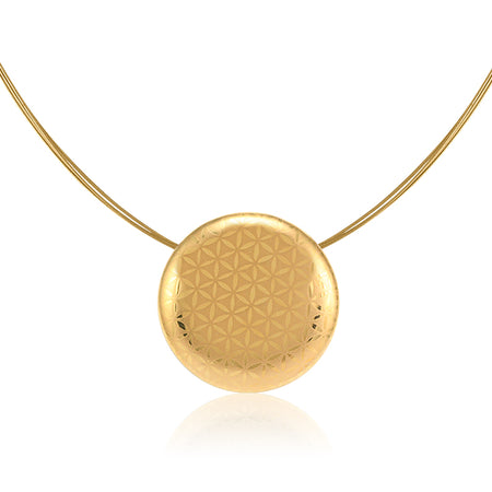Minimal Golden Circle Necklace Small