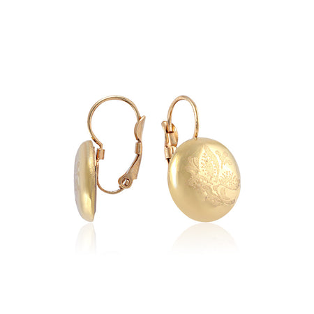 Minimal Golden Dangle Earrings