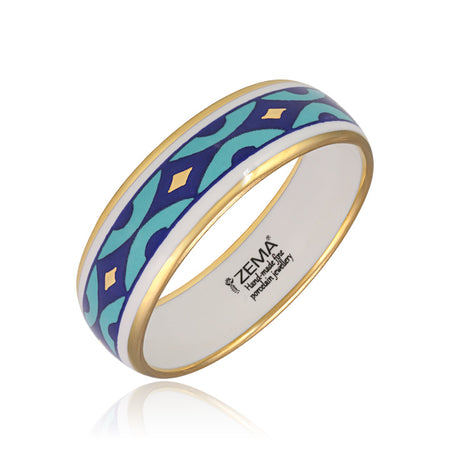 Blue Desert Bangle Bracelet