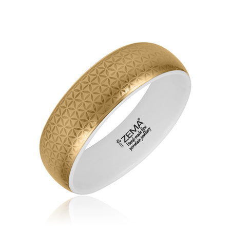 Minimal Golden Bangle Bracelet Medium