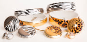Medium Gold Leopard Bangle Bracelet