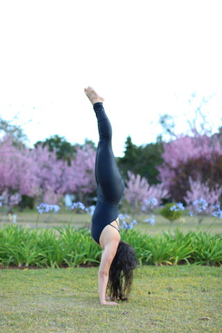 Raquel Rache Yoga Is Vegan Headstand