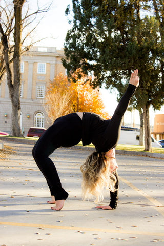 Sarah Wilson Backbend Yoga Is Vegan