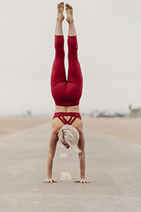Jessica Esfandiary Handstand Yoga Is Vegan