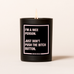 sassy quote candle