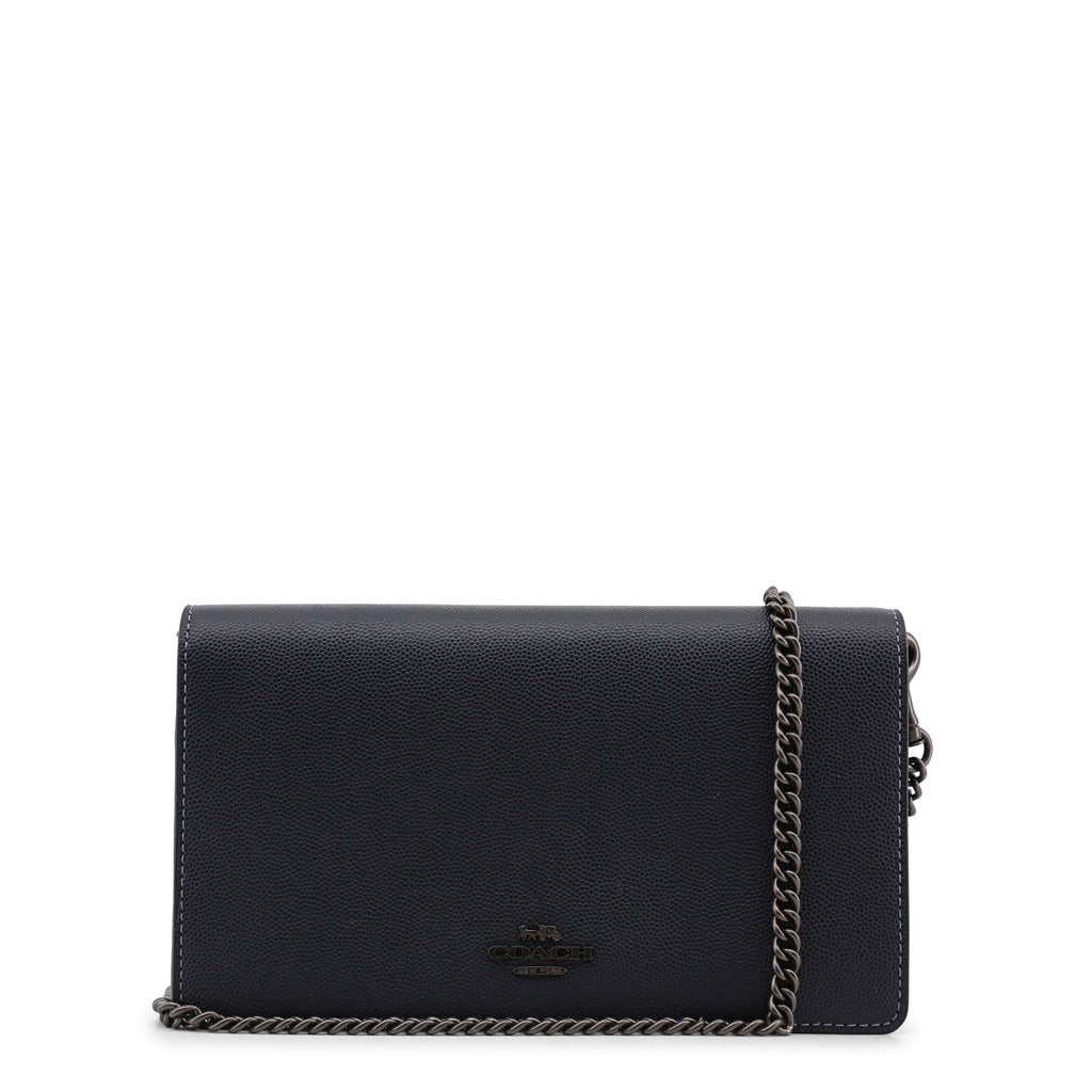Coach - 68031 - Leather Navy Clutch Bag