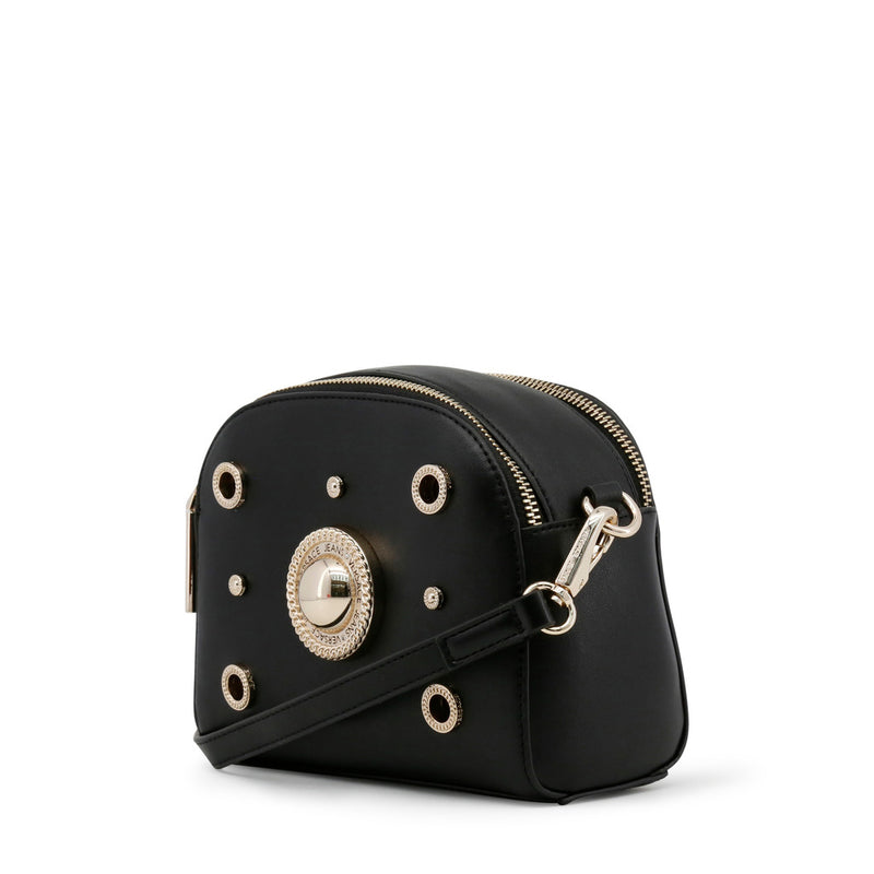 Versace Jeans - Crossbody bag - Black Round Button with Studs